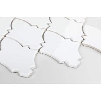 Płytka Arabeska Shield White Szkliwiona