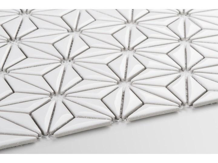 Płytka Constellation White Szkliwiony Nieregularny Płytki ścienne Mozaika Płytki podłogowe Gres Kolor Biały