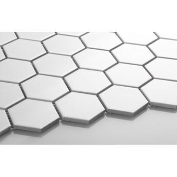 Płytka Heksagon Duży Biały Matowy