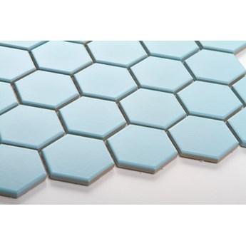 Płytka Heksagon Duży Błękitny Matowy