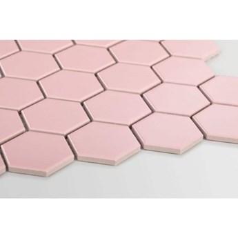 Płytka Heksagon Duży Pink Matowy