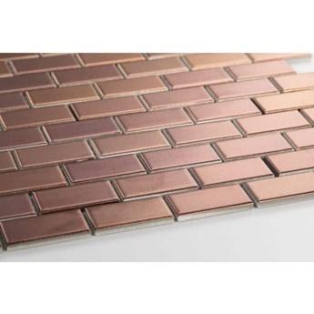 Płytka Mini Cegiełka Metallic Bronze Matowa