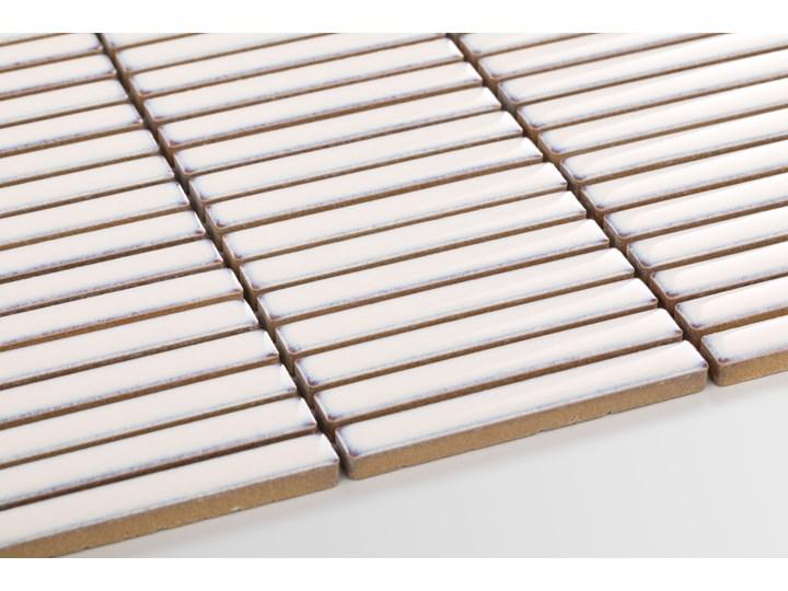 Płytka Stick Kremowy Połysk Gres Mozaika Płytki ścienne Płytki podłogowe Powierzchnia Polerowana Prostokąt Kategoria Płytki