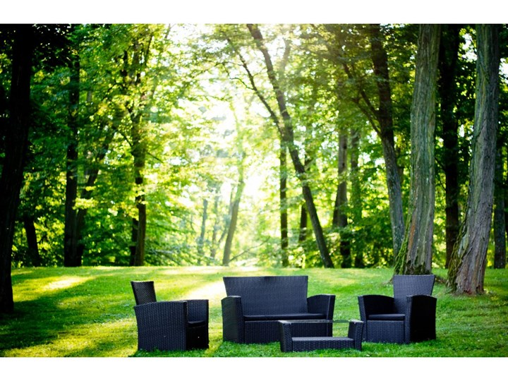 Meble ogrodowe z technorattanu UNICO Zestawy wypoczynkowe Zawartość zestawu Stół