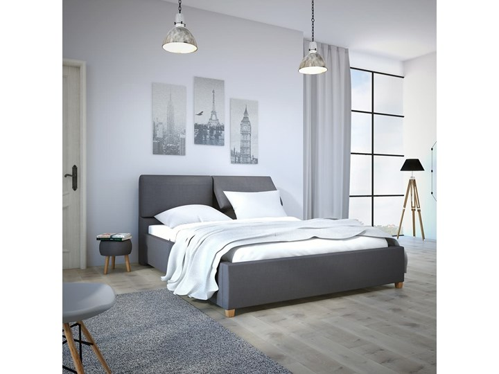 Łóżko Infiniti 140x200 cm Tkaniny Infinity Tak Łóżko tapicerowane Pojemnik na pościel Bez pojemnika