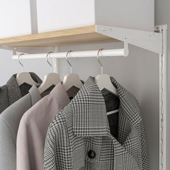 IKEA BOAXEL Kombinacja szafy, Biały/dąb, 62x40x201 cm