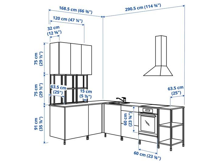 IKEA - ENHET Kuchnia narożna Kolor Biały Kategoria Zestawy mebli kuchennych