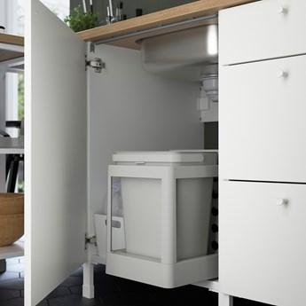 IKEA ENHET Kuchnia, antracyt/biały, 243x63.5x241 cm