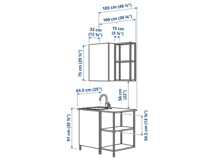 IKEA - ENHET Kuchnia Kolor Biały Kategoria Zestawy mebli kuchennych