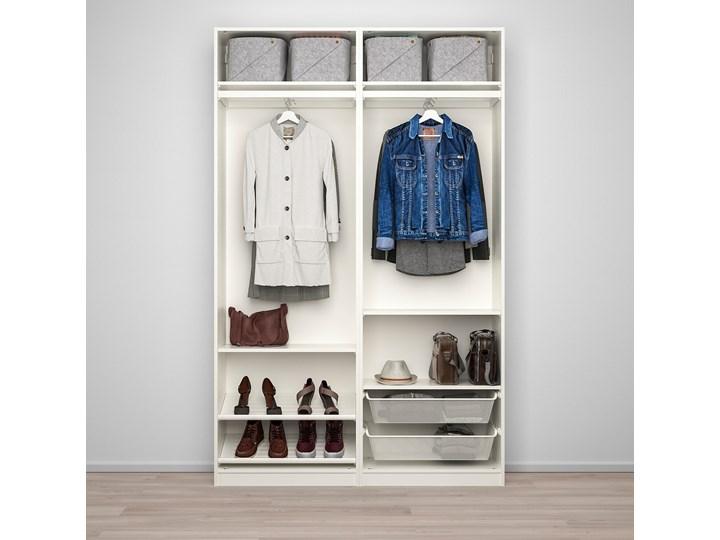 IKEA PAX / AULI Kombinacja szafy, biały/lustro, 150x44x236 cm Głębokość 44 cm Szerokość 150 cm Wysokość 236,4 cm Płyta laminowana Pomieszczenie Garderoba