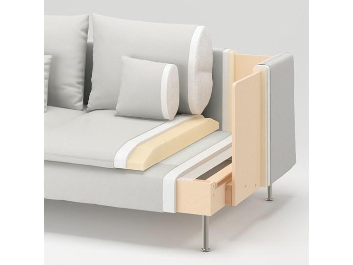 IKEA SÖDERHAMN Sekcja 3-osobowa, Samsta pomarańczowy, Szerokość: 186 cm Modułowe Typ Gładkie Styl Nowoczesny
