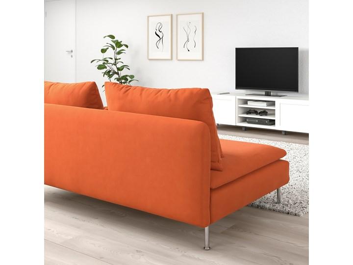 IKEA SÖDERHAMN Sekcja 3-osobowa, Samsta pomarańczowy, Szerokość: 186 cm Modułowe Wielkość Trzyosobowa