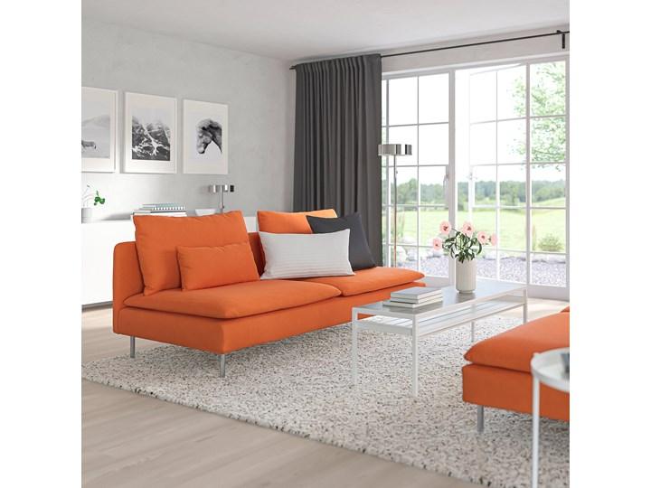 IKEA SÖDERHAMN Sekcja 3-osobowa, Samsta pomarańczowy, Szerokość: 186 cm Nóżki Na nóżkach Modułowe Funkcje Bez dodatkowych funkcji
