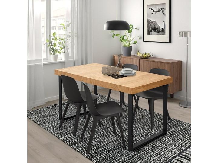 TARSELE Stół rozkładany Szerokość 80 cm Drewno Wysokość 77 cm Długość 200 cm  Długość 150 cm  Metal Styl Industrialny Rozkładanie Rozkładane