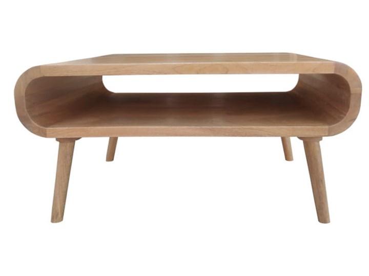 Stolik GUBBE - 80x60 cm (Karmel) Zestaw stolików Styl Nowoczesny Drewno Rozmiar blatu 60x80 cm