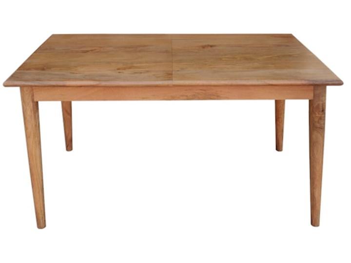 Stół rozkładany MARIAN - 120x80 cm (Karmel) Kamień Długość 120 cm  Drewno Rozkładanie Rozkładane