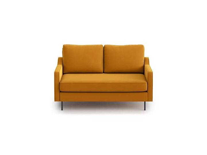 Sofa Abbe 2-osobowa, Golden Velvet Stała konstrukcja Styl Industrialny