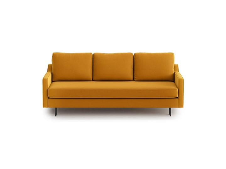 Sofa Abbe z funkcją spania, Golden Velvet Materiał obicia Tkanina Wersalka Typ Gładkie
