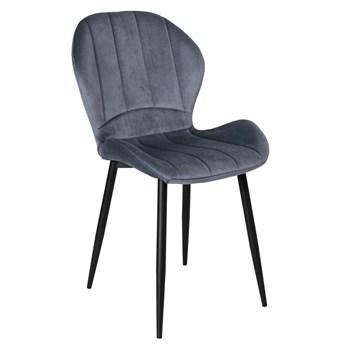 Krzesło aksamitne Shelby Velvet Grafitowy