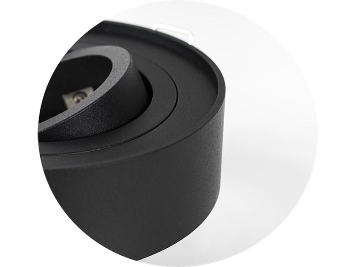 Punktowa oprawa sufitowa wpuszczana SKAND 1 MINI Black IP20 okrągła czarna EDO777127 EDO Okrągłe Oprawa wpuszczana Oprawa stropowa Kolor Czarny