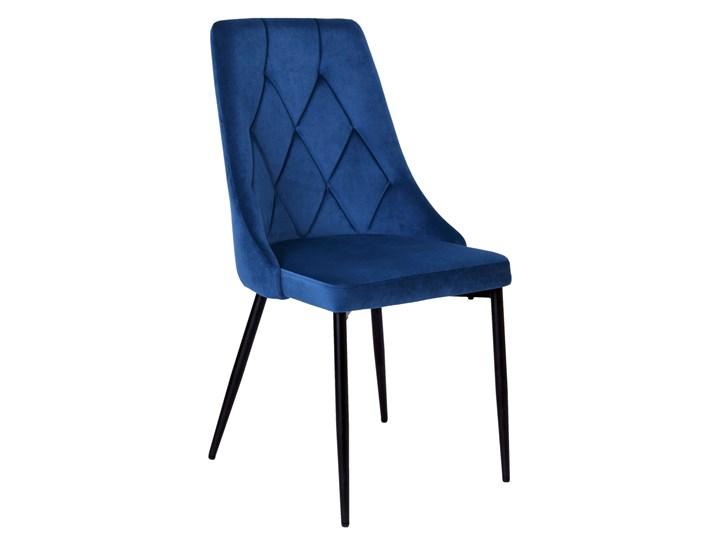 Krzesło tapicerowane Lincoln Velvet granatowy
