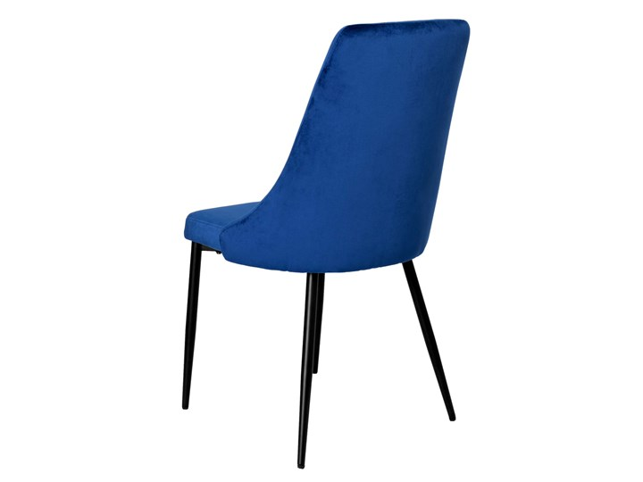 Krzesło tapicerowane Lincoln Velvet granatowy Wysokość 43 cm Krzesło inspirowane Głębokość 45 cm Szerokość 38 cm Wysokość 92 cm Tkanina Welur Metal Wysokość 38 cm Tworzywo sztuczne Wysokość 47 cm Skóra Styl Nowoczesny