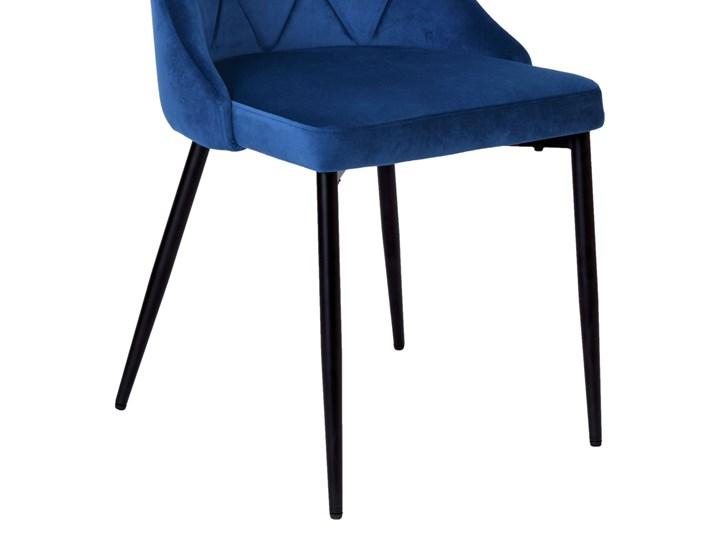 Krzesło tapicerowane Lincoln Velvet granatowy Szerokość 38 cm Wysokość 47 cm Tworzywo sztuczne Skóra Welur Wysokość 92 cm Wysokość 43 cm Pomieszczenie Jadalnia Metal Tkanina Głębokość 45 cm Krzesło inspirowane Wysokość 38 cm Styl Industrialny