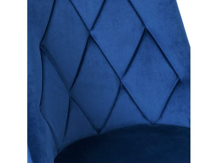 Krzesło tapicerowane Lincoln Velvet granatowy Tkanina Szerokość 38 cm Wysokość 38 cm Skóra Wysokość 92 cm Wysokość 47 cm Krzesło inspirowane Metal Wysokość 43 cm Głębokość 45 cm Tworzywo sztuczne Styl Nowoczesny Welur Styl Glamour
