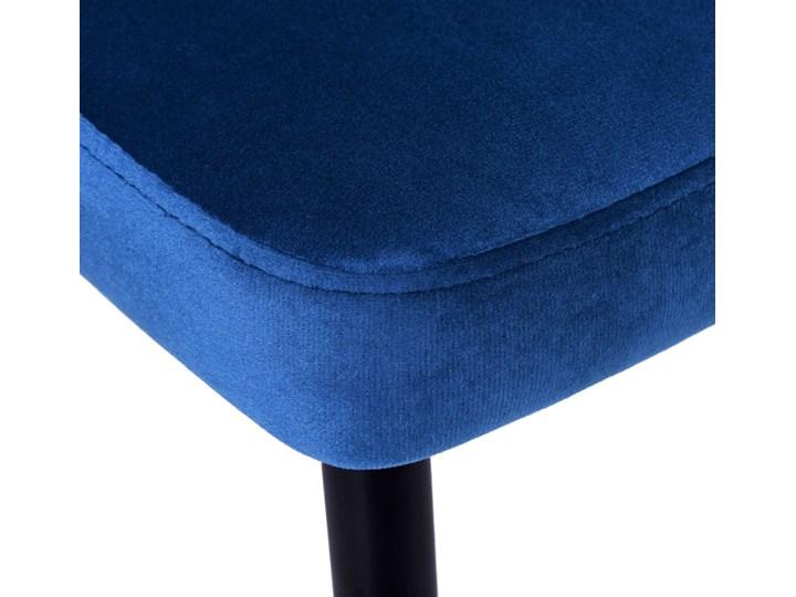 Krzesło tapicerowane Lincoln Velvet granatowy Wysokość 92 cm Styl Glamour Tkanina Wysokość 43 cm Krzesło inspirowane Skóra Głębokość 45 cm Wysokość 47 cm Metal Szerokość 38 cm Welur Tworzywo sztuczne Wysokość 38 cm Styl Nowoczesny