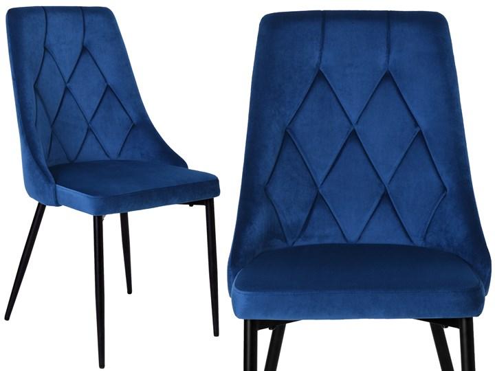 Krzesło tapicerowane Lincoln Velvet granatowy Tworzywo sztuczne Pomieszczenie Jadalnia Wysokość 43 cm Tkanina Wysokość 92 cm Szerokość 38 cm Welur Wysokość 38 cm Głębokość 45 cm Wysokość 47 cm Metal Krzesło inspirowane Skóra Styl Nowoczesny