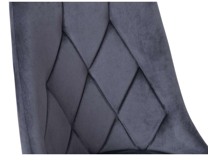 Krzesło tapicerowane Lincoln Velvet grafitowy Metal Tkanina Welur Tworzywo sztuczne Skóra Krzesło inspirowane Wysokość 92 cm Pomieszczenie Jadalnia