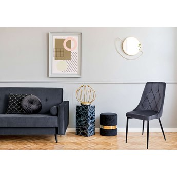 Krzesło tapicerowane Lincoln Velvet grafitowy