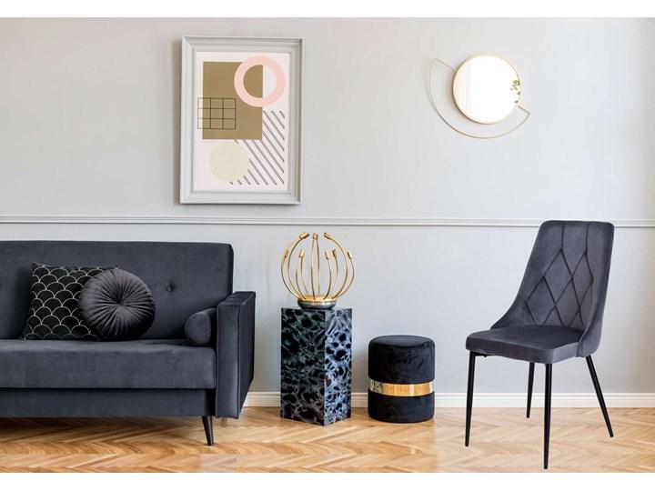 Krzesło tapicerowane Lincoln Velvet grafitowy Krzesło inspirowane Metal Welur Styl Nowoczesny Tworzywo sztuczne Wysokość 92 cm Skóra Tkanina Pomieszczenie Jadalnia
