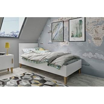 Skandynawskie łóżko dziecięce Maurycy 4X 80x180 - białe