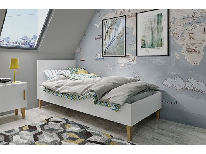 Skandynawskie łóżko dziecięce Maurycy 4X 80x180 - białe Rozmiar materaca 90x200 cm Płyta meblowa Drewno Płyta MDF Rozmiar materaca 80x180 cm