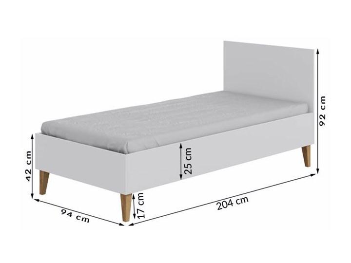 Skandynawskie łóżko dziecięce Maurycy 4X 80x180 - białe Płyta MDF Drewno Płyta meblowa Kolor Biały