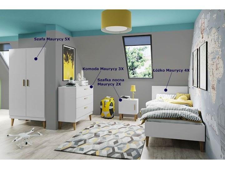 Skandynawskie łóżko dziecięce Maurycy 4X 80x180 - białe Płyta MDF Drewno Płyta meblowa Rozmiar materaca 80x180 cm Rozmiar materaca 90x200 cm