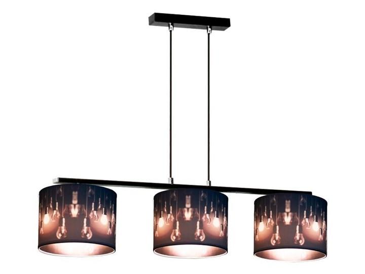Zmieniająca kolor lampa wisząca nad stół E914-Izydo Kolor Szary Lampa z abażurem Tworzywo sztuczne Metal Kolor Biały