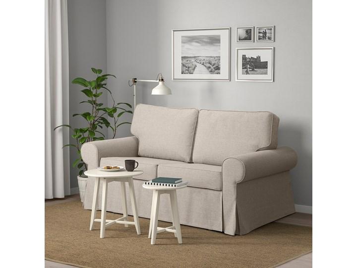 IKEA EVERTSBERG Sofa 2-osobowa rozkładana, z pojemnikiem beżowy, Wysokość łóżka: 29 cm Nóżki Bez nóżek Stała konstrukcja Typ Gładkie
