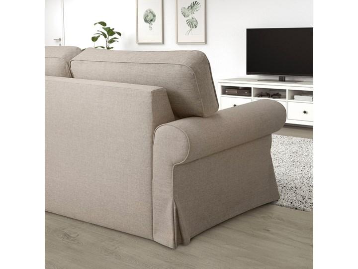 IKEA EVERTSBERG Sofa 2-osobowa rozkładana, z pojemnikiem beżowy, Wysokość łóżka: 29 cm Stała konstrukcja Typ Gładkie