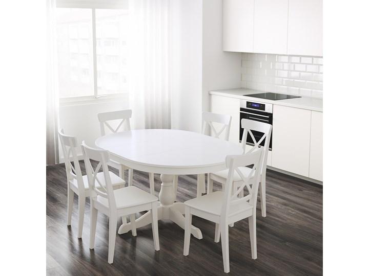 IKEA INGATORP Stół rozkładany, Biały, 110/155 cm Płyta MDF Rozkładanie Rozkładane