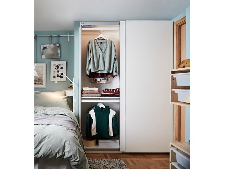 PAX / HASVIK Kombinacja szafy Lustro Wysokość 201,2 cm Szerokość 150 cm Głębokość 44 cm Pomieszczenie Garderoba