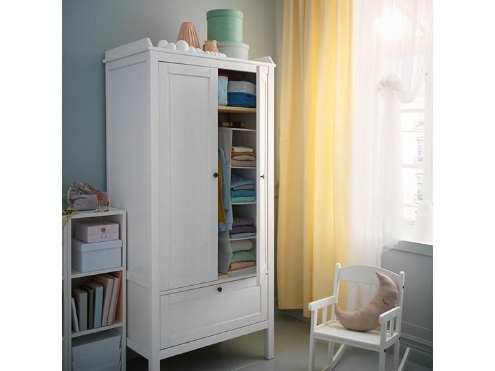 IKEA SUNDVIK Szafa, Biały, 80x50x171 cm Drewno Pomieszczenie Sypialnia Płyta MDF Lustro