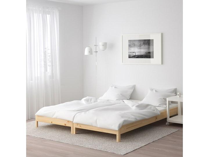 IKEA UTÅKER Łóżko sztaplowane, sosna, 80x200 cm Drewno Podwójne Kolor Beżowy Kategoria Łóżka dla dzieci