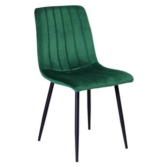 Krzesło tapicerowane Fresno Velvet ciemno-zielone