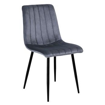 Krzesło tapicerowane Fresno Velvet grafitowe