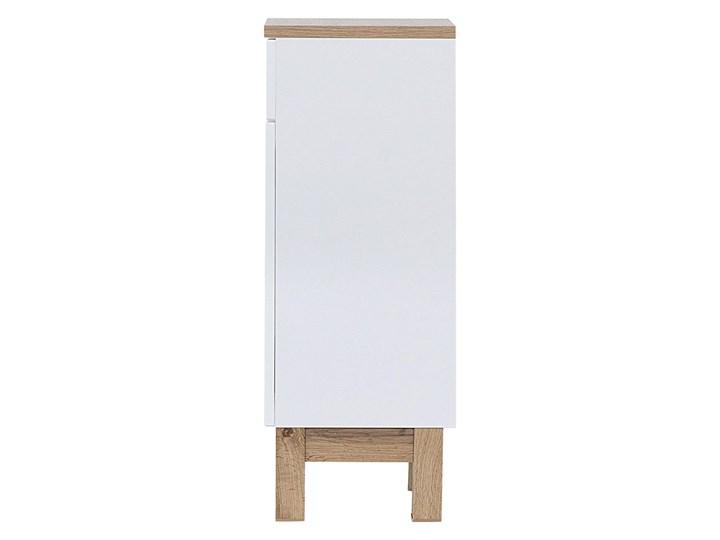Półsłupek łazienkowy Marsylia 4X - Biały połysk Szerokość 35 cm Stojące Wysokość 86 cm Kategoria Szafki stojące