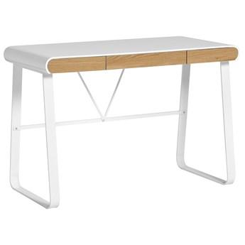 Marckeric Astrid - Białe - Designerskie biurko do domu i Home Office
