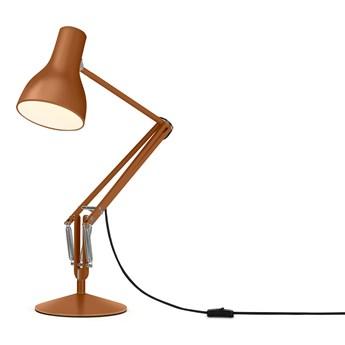 Anglepoise - Type 75 + Margaret Howell - Brązowy (Sienna) - Modna Lampa biurkowa