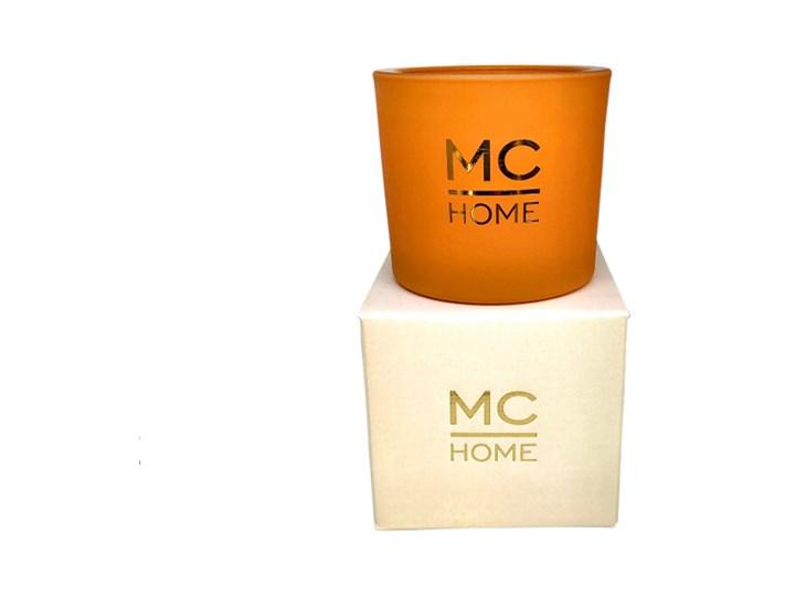 ŚWIECA ZAPACHOWA POMARAŃCZOWA WOOD & RUM MC HOME 8X9CM Metal Kolor Pomarańczowy Kategoria Świeczniki i świece